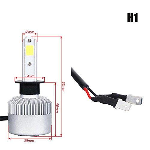 CHEQIANDENG H11 LED Scheinwerfer Glühlampe IP68 Schutzklasse 50-80w 6500K 8000LM Lumen Aurora Hochtemperatur 2 Jahre Garantie, H1