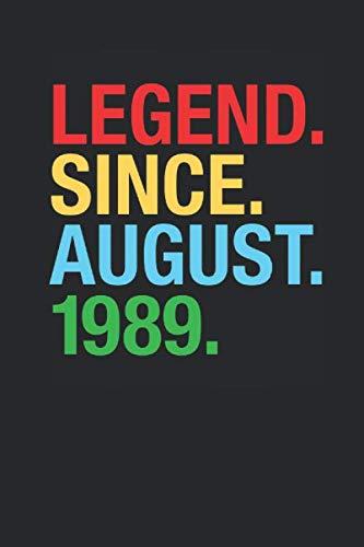 Legend Since August 1989: Graph Paper Notebook / Journal (6