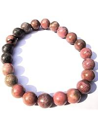KYC- Rhodochrosite Round Beads Bracelet With Buddha ( PINK )