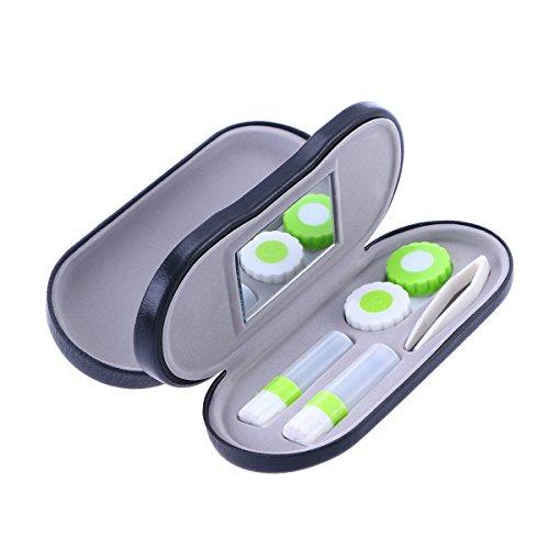 Healifty Contact Lens Travel Case Holder Aufbewahrungsbox mit doppelten Linsen für Zuhause und unterwegs