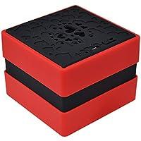 Altavoz inalámbrico, mini herramienta de salida de audio del ordenador portátil al aire libre del teléfono cuadrado (Color : Red)