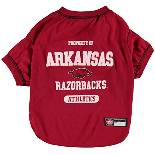 Arkansas Razorbacks NCAA Dog Pet Tee T-Shirt, X-Small -
