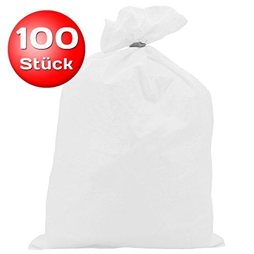 100 Stück Sandsack PP 30 x 60 cm weiß Typ 2508