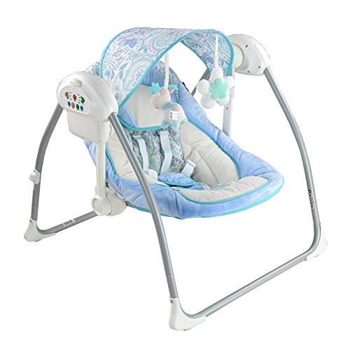Elektrische Babyschaukel Babywippe 62x65x58cm blau Babyliege Wippe Wiege
