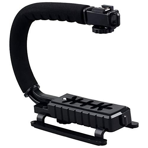 Flash Bracket Grip (C-Grip Video-Griffkamera Stabilizer Flash Bracket Holder Stabilizer Grip Handheld Rig Unterstützung für GoPro Nikon Canon Sony SJCAM Xiaomi Yi DSLR-Kamera-Camcorder)