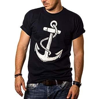 afc34763eb243a Herren T-Shirt mit Aufdruck Anker Größe S-XXXL  Amazon.de  Bekleidung