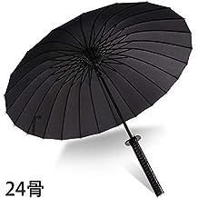 wei Paraguas Creativo Japonés Samurai Paraguas Automático Abierto Paraguas Recto Lluvia o Brillo Paraguas de Doble