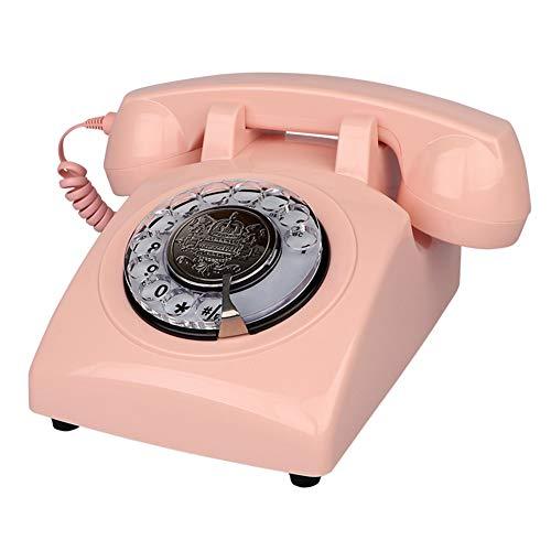 Corded Telephone Schnurgebundenes Telefon-American Retro Festnetz-Home-Office-Hotel Drehscheibe One-Button-Dialing Keine Batterie erforderlich Gegenstörung Festnetz-Telefon American Telephone