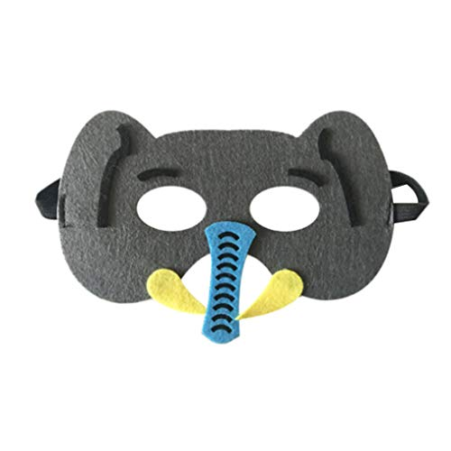 shangjunol Cartoon Tiere Half Face Kinder Maske Kindertagesgeburtstag verkleiden Kostüm Maske Zoo Jungle Party Supplies