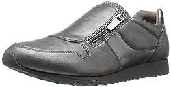 Easy Spirit Womens Letta3 Walking Shoe, Pewter/Multi Synthetic, 5 M US