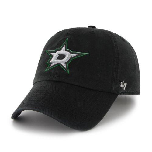 47 Brand NHL Clean Up Cap, one Size, Damen, schwarz Dallas Stars Hockey Logo