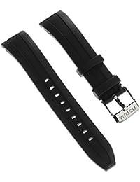 Reloj festina de pulsera-material de PU negro para festina F16829, F16828 relojes
