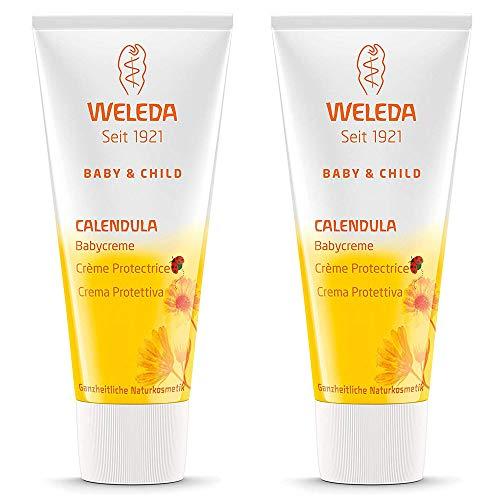 2x Weleda - Crema Protettiva alla Calendula per il cambio pannolino - 75ml | Linea Calendula Baby | Pacchetto da 2 confezioni da 75ml l'una | Igiene Prima Infanzia