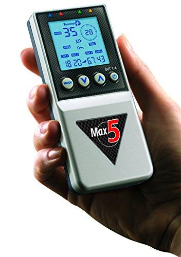 elettrostimolatore muscolare Tesmed Max5 - 4 canali -batteria ricaricabile- tonificazione, rassodamento, drenaggio,...