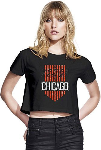House Sound Of Chicago Retro Womens Continental Cropped Jersey Large (Chicago T-shirt Womens Retro)
