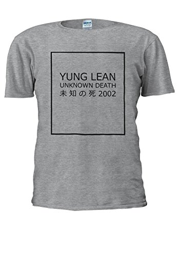 Yung Lean Unknown Death ? ? ?? Japan Novelty Men Women Unisex Top T Shirt-S (Tank-top Lean Shirt)