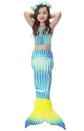 Multicolour Mädchen Meerjungfrauen Bademode Badeanzüge Bathing Suit Tauchanzug Bikini Kostüm Tankini Schwimmanzug Weste Badeanzug Shorts