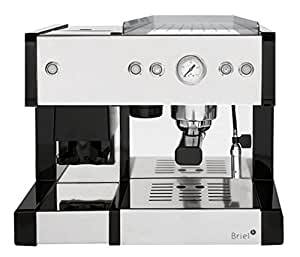 Briel EG289E IN Machine à Expresso avec Moulin à Café Acier Inoxydable