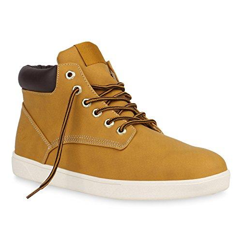 Herren Schuhe Sneakers Sneakers High Frühling Sommer Herbst 152051 Hellbraun Basic 42 ()