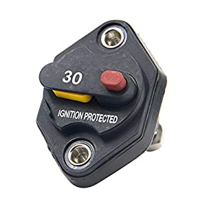 RKURCK 12V-32V DC 30A Circuit Breaker Fuse Inverter Fuse holder with Manual Reset Button for Auto Truck RV Marine Trailer Waterproof