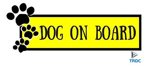 TRDC Adesivo per Auto Dog on Board - Cane a Bordo