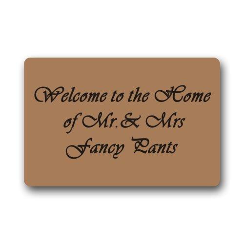 Doormat No.01 Haute qualité et de Nouveaux Mode Bienvenue dans la Maison de Mr et Mrs Fancy Pants Paillasson