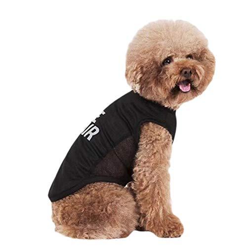 Elf space Welpen-Shirt mit Rundhalsausschnitt, atmungsaktiv, geeignet für Mops, Corgi, Bulldoggen, Schnauzers, Teddy, kleine und mittelgroße Hunde, Katzen, in 2 Farben ()