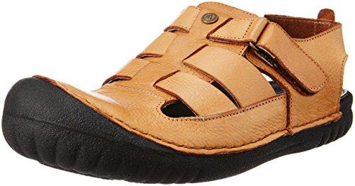 Alberto Torresi Men's Tan Leather Sandals and Floaters - 11 UK/India (45 EU)