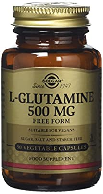 Solgar 500 mg L-Glutamine Vegetable Capsules - 50 Capsules