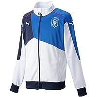 Puma, Giacca Uomo Figc Italia Stadium Walk-Out, Bianco (White-Team Power Blue), XL