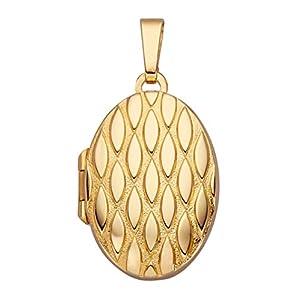Diemer Gold Medaillon-Anhänger in Gelbgold