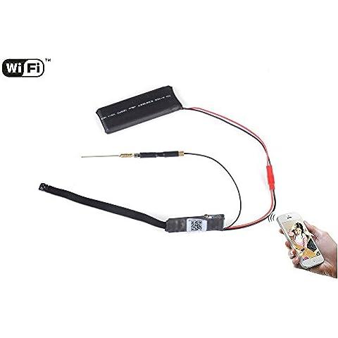 Agente007 - Modulo Camara Espia Inalambrica Wifi P2P Hd 1080P 12 Megapixel Grabacion Micro Sd Android