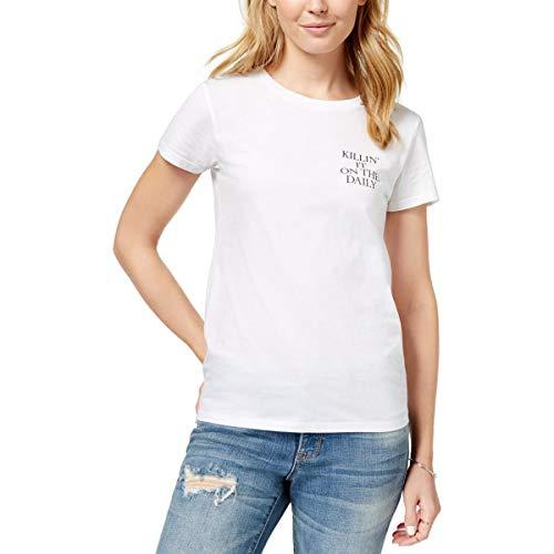 CHRLDR T-Shirt Killin' It Graphic Cotton - Weiß - Mittel