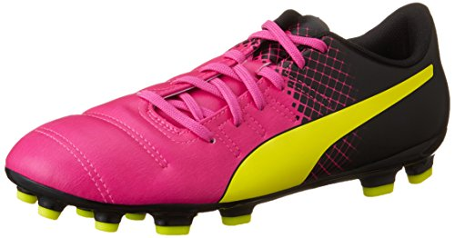 Puma Evopower 4.3 Tricks Ag Herren Fußballschuhe Pink (pink glo-safety yellow-black 01)