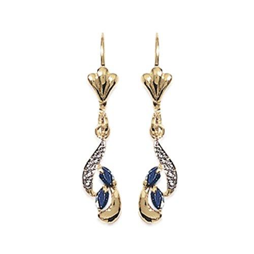 Isady - Bettine Gold - Damen Ohrringe - 18 Karat (750) Gelbgold platiert - Ohrhänger - Zirkonia