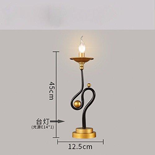 TD Tischlampe-American Retro-Lampen Wohnzimmer Licht neo-klassischen Schlafzimmer Bett Lampen kreative Persönlichkeit Leuchter American Leuchter