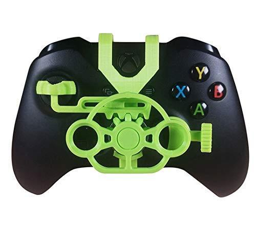 Gaming Mini Racing Wheel 3D gedruckt für Xbox One S Xbox One X Controller Grün grün