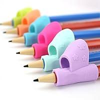DemiawakingUK 3Pcs Pencil Grips Children Kids Pencil Holder Pen Writing Aid Grip Pen Grips Handwriting Posture Correction Tool (1 Finger)