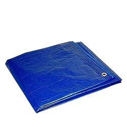 Bâche imperméable multifonction 6,5 * 9,8 pieds multi-usages bleu Poly Tarp Cover bâche imperméable de l'économie avec des œillets en métal pour la tente auvent bateaux voitures couverture de la pisci