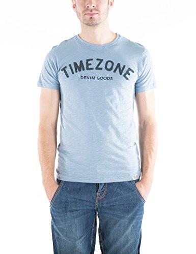 Timezone Herren Letters T-Shirt Blau (Aluminium 3046)