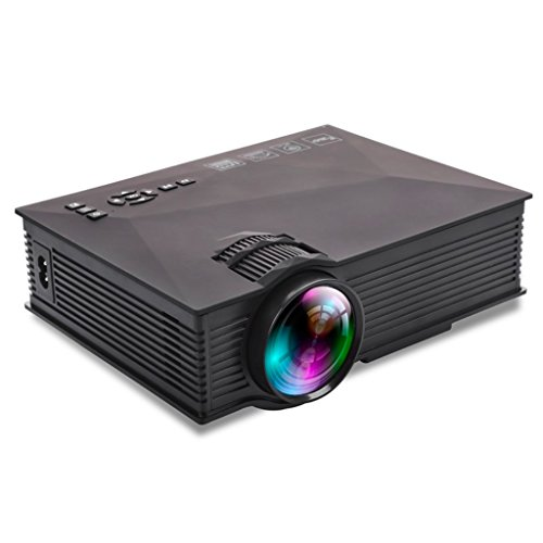 Build Excellent 1200 Lumen mini LED Projektor Tragbare Beamer Wireless LCD Projektor Home Cinema (UC46)