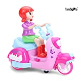 TamBoora ™ Battery Operated Bump and Go Doll Motorcycle with Flashing Light and Sounds Effects multi colours best gif option