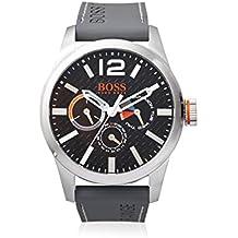 Boss Orange 1513251 - Reloj de pulsera hombre, Silicona, color Gris