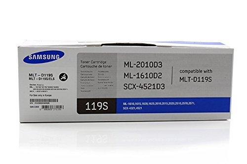 Original Toner passend für Samsung ML-1610 Samsung 119 MLTD119S , MLT-D119S/ELS , MLTD119SELS - Premium Drucker-Kartusche - Schwarz - 2.000 Seiten (Samsung 2510 Toner Patrone)