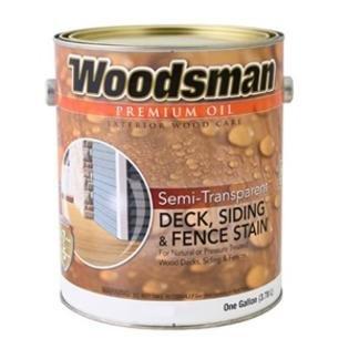 Woodsman® Premium Semi-Transparent Oil Deck, Siding & Fence Stain, Exterior for Wood Decks, Siding & Fence, 1 Gallon