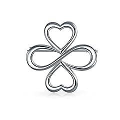 Idea Regalo - Bling Jewelry AYLLU cuori R uno 925 Silver Large Spilla Pin