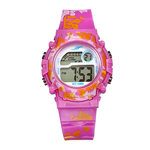Kinderuhr Junge, Kinderuhr Armbanduhr Analog Sports Uhren für Jungen und Mädchen Uhr Sports Uhren pink