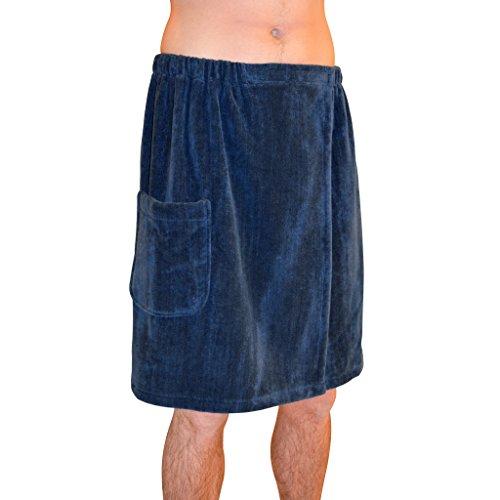 Strahlend Sauna sa5327Herren 's Spa & Bad Frottee Handtuch Wrap, navy blau