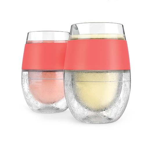 Host 842094151660 Wine Freeze Kühlbecher, Korallen-farbig (2-er Set) (2), Kunststoff, Multi Colored