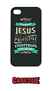 Caseque What a Friend we have in Jesus.. Back Shell Case Cover for Apple iPhone 4/4S